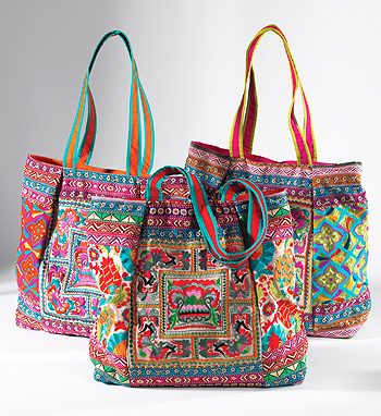 Embroidered Indian Grosse Tasche